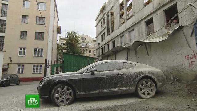 бентли залили цементом видео